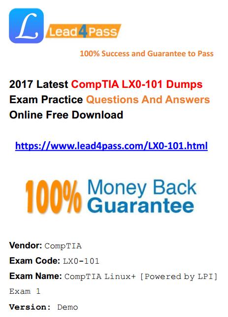 LX0-101 dumps