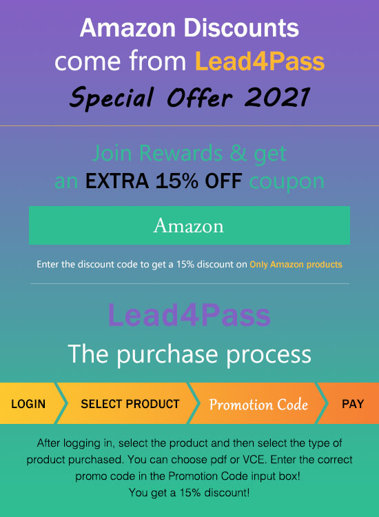 lead4pass 15% off coupon code